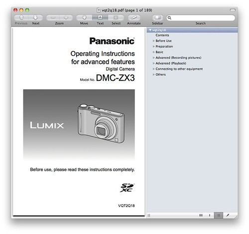 Advanced Panasonic ZX3 / ZR3 Manual