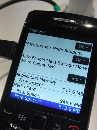 The Pearl 3G has more memory for apps