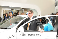 Evan Thornley (btrplc) Tags: japan tokyo taxi taxis ev electriccar electricvehicle betterplace electrictaxi