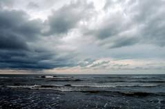 March sea (parseha) Tags: sea sky clouds landscape dusk tide caspian