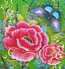 (Romany Soup) Tags: flowers butterfly bright colourful