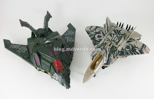 Transformers Mindwipe RotF NEST Voyager vs Starscream Voyager - modo alterno