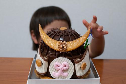 ドエルの兜ケーキ