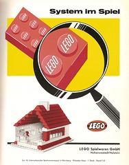 1959 Lego Haus (diepuppenstubensammlerin) Tags: old childhood promotion vintage ads advertising children toy toys pub doll dolls child alt ad advertisement werbung spielzeug reklame spiel puppe puppen anzeige antik altes anzeigen antikes poupes