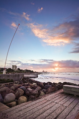 Winter Foreshore (Mark Solly (F-StopNinja)) Tags: ocean sunset sea sky rocks waves platform boardwalk newplymouth windwand coastalwalkway