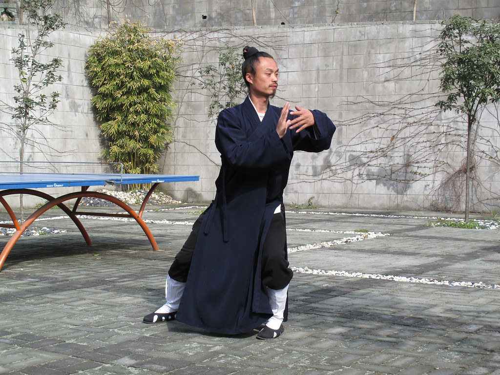 Master Zhong demonstrating Wudang Taijiquan