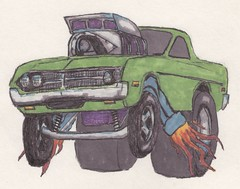Ranchero (fatslick70) Tags: art ford 1971 crazy artist oldschool doodle marker 1970 ranchero blower slicks