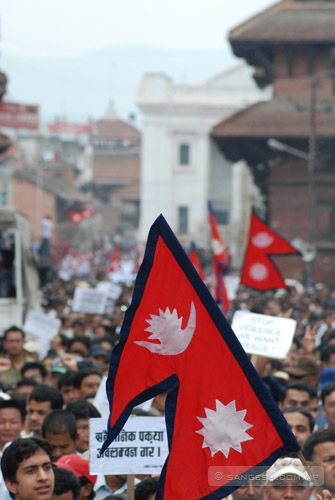 Nepal flag for peace