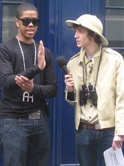 Chipmunk with Matt Edmondson on Sony Ericsson's Pocket TV (Pocket TV) Tags: sonyericsson chipmunk pockettv mattedmondson