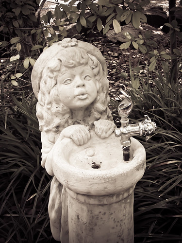 Little Girl Statue Water Fountain