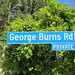 George Burns Road Street Sign