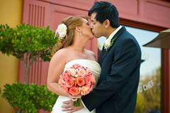 Tiffany & Dustin's Wedding (Onigun) Tags: wedding white cake groom bride kiss dress weddingcake marriage husband ring bridesmaid wife bouquet groomsmen