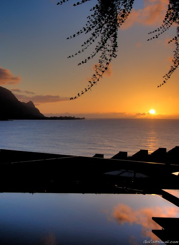 Sunset dinner view at Makana Terrace