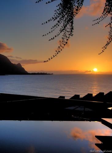 Sunset dinner view at Makana Terrace