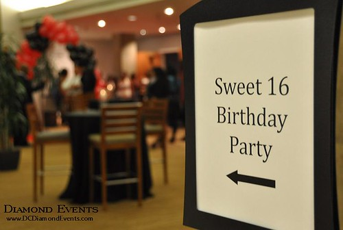 Sweet 16 Birthday Sign at the National Conference Center