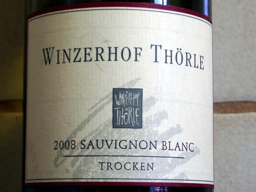 2008 Sauvignon Blanc trocken Winzerhof Thörle Saulheim - Etikett