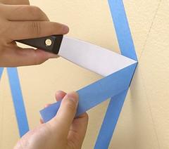 ScotchBlue Painting Tips - Diamond Pattern - Masking (ScotchBlue) Tags: decorating tutorial diamondpattern bluepainterstape paintingstripes scotchbluepainterstape scotchbluepainterstapefordelicatesurfaces 3mscotchblue delicatesufaces