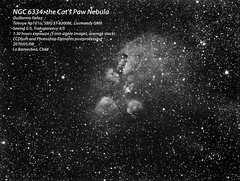 NGC 6334: the Cat's Paw Nebula (Full Res) (Guillermo Yanez) Tags: cat ngc telescope nebula astrophotography astronomy Astrometrydotnet:status=solved ngc6334 astro:name=ngc6334 Astrometrydotnet:version=14400 astro:pixelScale=204 Astrometrydotnet:id=alpha20100550421569 astro:RA=260098772974 astro:Dec=359730873128 astro:orientation=17415 astro:fieldsize=188x142degrees