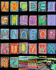 another thing we've been working on... (artsy_T) Tags: school art kids project grant letters alphabet collaboration elementary literacy travelingmural