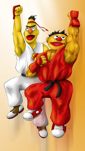 Sesame Street meets Street Fighter