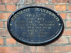 Photo of Ernest Raymond black plaque