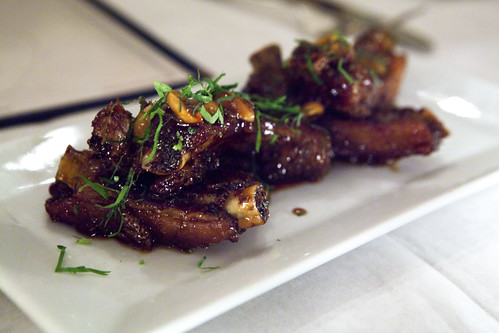Crispy pork ribs