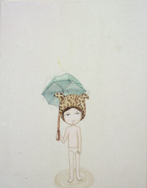 Kyung Jeon, Leopard in the Rain, 2009