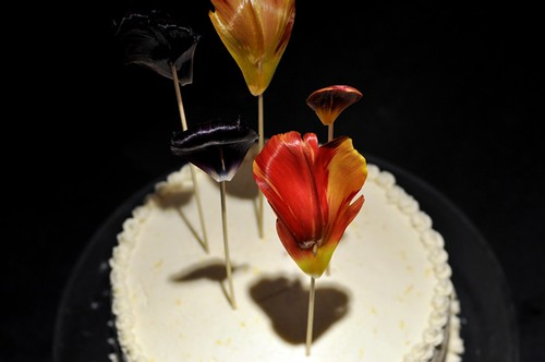 cake and tulip-flags