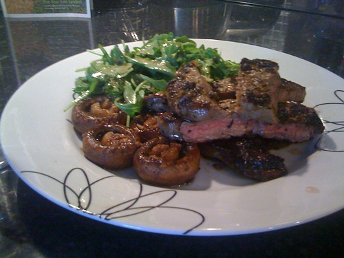 Steak and balsamic-glazed mushrooms - Jamie Oliver Recipe