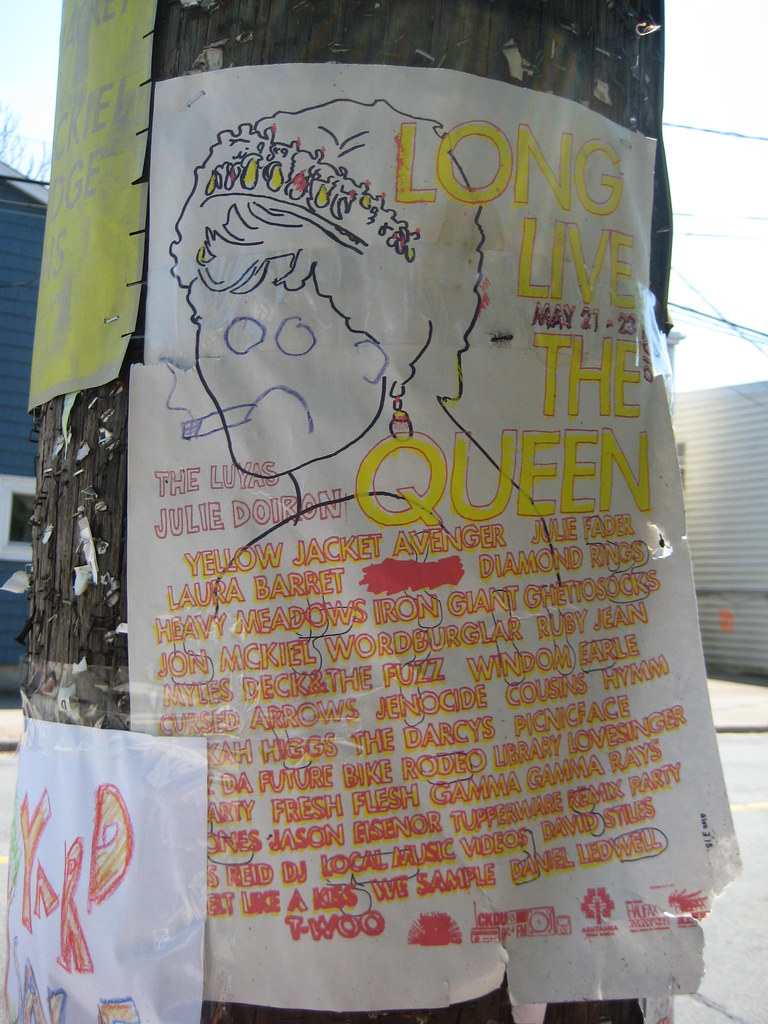 Long Live the Queen Festival Poster, Halifax, Nova Scotia - May 2010