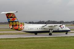 G-BRYP - 1992 build De-Havilland Canada Dash 8-311A, now with Central Mountain Air as C-FJFW (egcc) Tags: england man manchester 315 britishairways dhc dash8 bombardier ringway egcc brymonairways britishregional gbryp dash8c