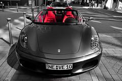 Ferrari F430 Spider (Ismael Crabu ) Tags: street red leather race speed germany spider nikon rich ferrari ko 200 mm nikkor 18 dd dusseldorf 18200 duitsland f430 d90 exlcusive izza92 autogespot