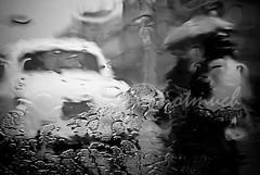 Rain (knowsnotmuch) Tags: car rain umbrella 50mm droplets scooter windshield throughthewindshield cyclonelaila notextureswereaddedinthemakingofthispicturep
