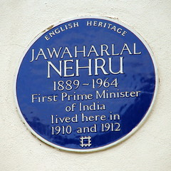 Photo of Jawaharlal Nehru blue plaque