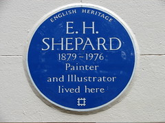 Photo of E. H. Shepard blue plaque