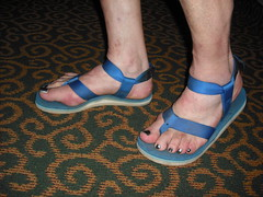 blue sandals with back strap (2moshoes) Tags: sandals
