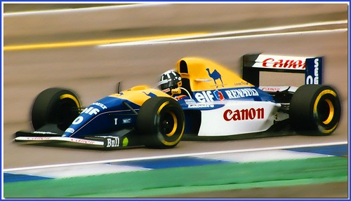 Damon Hill Williams Renault FW15C F1.1993 Silverstone British GP
