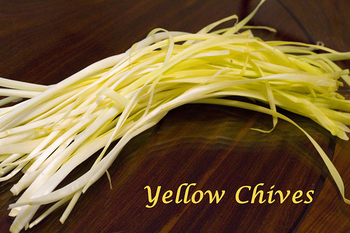 Yellow Chives with words