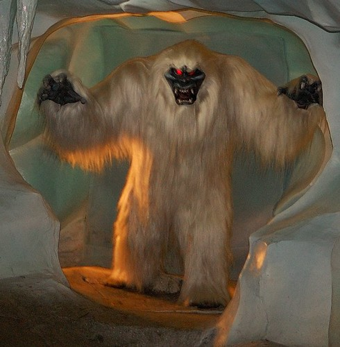 Harold the Abominable Snowman  Matterhorn Bobsleds  Disneyland USAAbominable Snowman Matterhorn