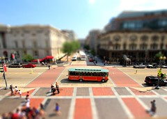 View from NPG Tilt-Shift (Mr.TinDC) Tags: bus buses architecture buildings washingtondc dc downtown tourists explore vehicles dcist galleryplace streetscapes 8thstreet pennquarter tiltshift fstreet oldtowntrolley tourbuses explored sityscapes tourmobiles tiltshiftmaker