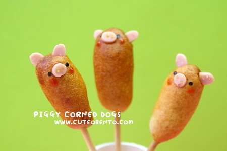 Piggy corn dogs