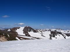 北鎮岳のさらに奥には白雲岳