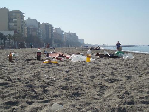 Un domingo cualquiera en las playas de Almeria
