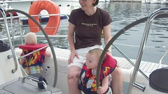 Sailing on the new boat Photo