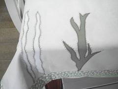 Fundo do mar... (Patchwork Sonia Ascari) Tags: patch cozinha molde peixes riscos bules toalhas xicaras patchcolagem patchworkmolde