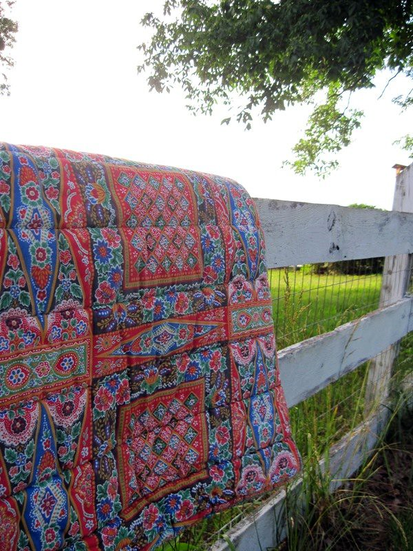 Old sleeping bag- wonderful fabric pattern