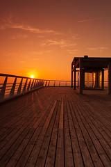 The pier of Scheveningen doesn't look that bad. (at day's end) (Tberga ) Tags: cruise sunset red golden zonsondergang ship scheveningen nederland deck zomer hour avond oranje