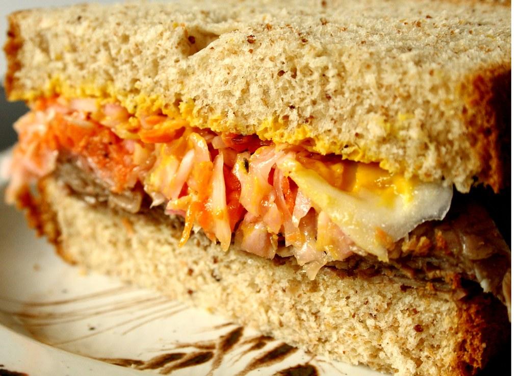 Roast Beef & Coleslaw Sandwich on Rye