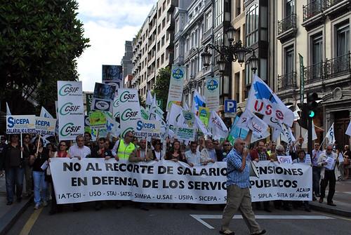Fotos de la agitación de los CJC/CMC  y el PCPE-Asturies por la huelga general 4666199926_629da2f836