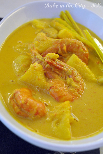 Masak Lemak Udang Dengan Nenas (prawn and pineapple curry)